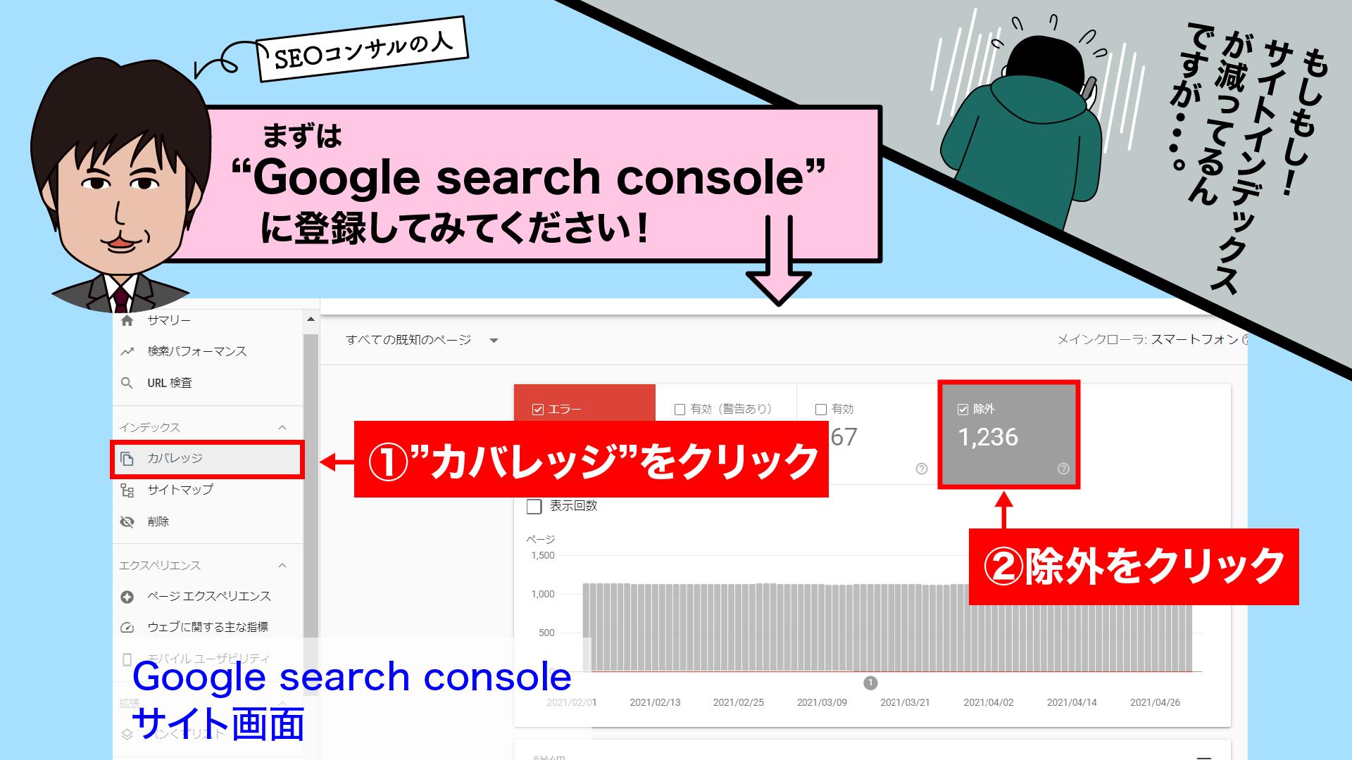 SEO対策あるある漫画‐インデックス除外された②