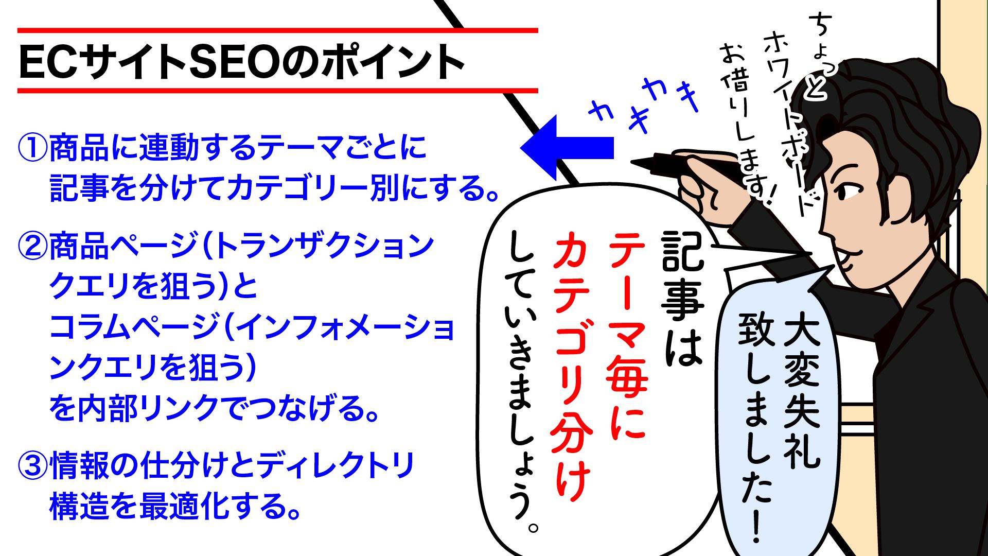 漫画‐SEOディレクトリ構造と情報の仕分け③
