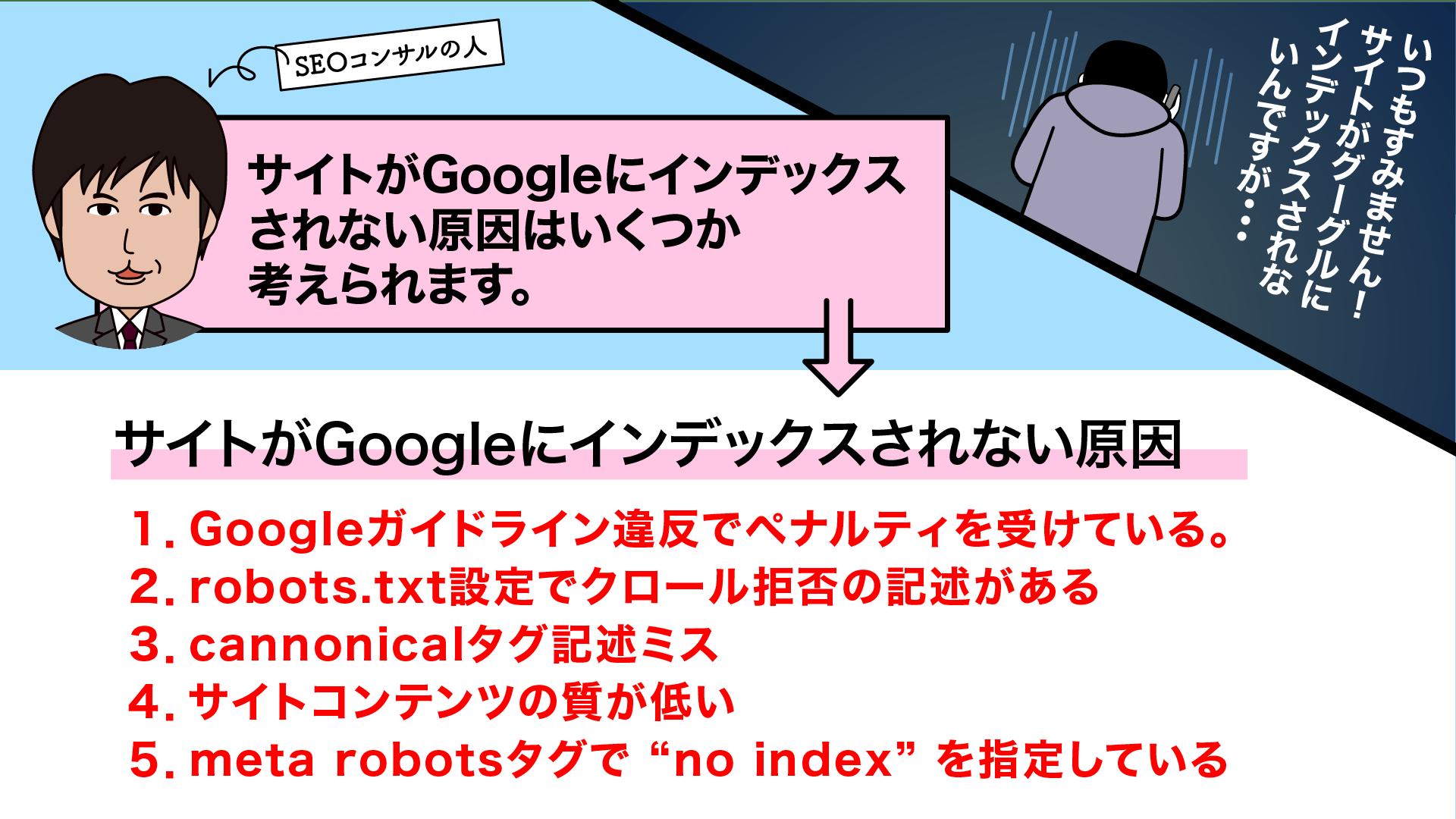 SEO対策漫画ーNOINDEXに気を付けろ④