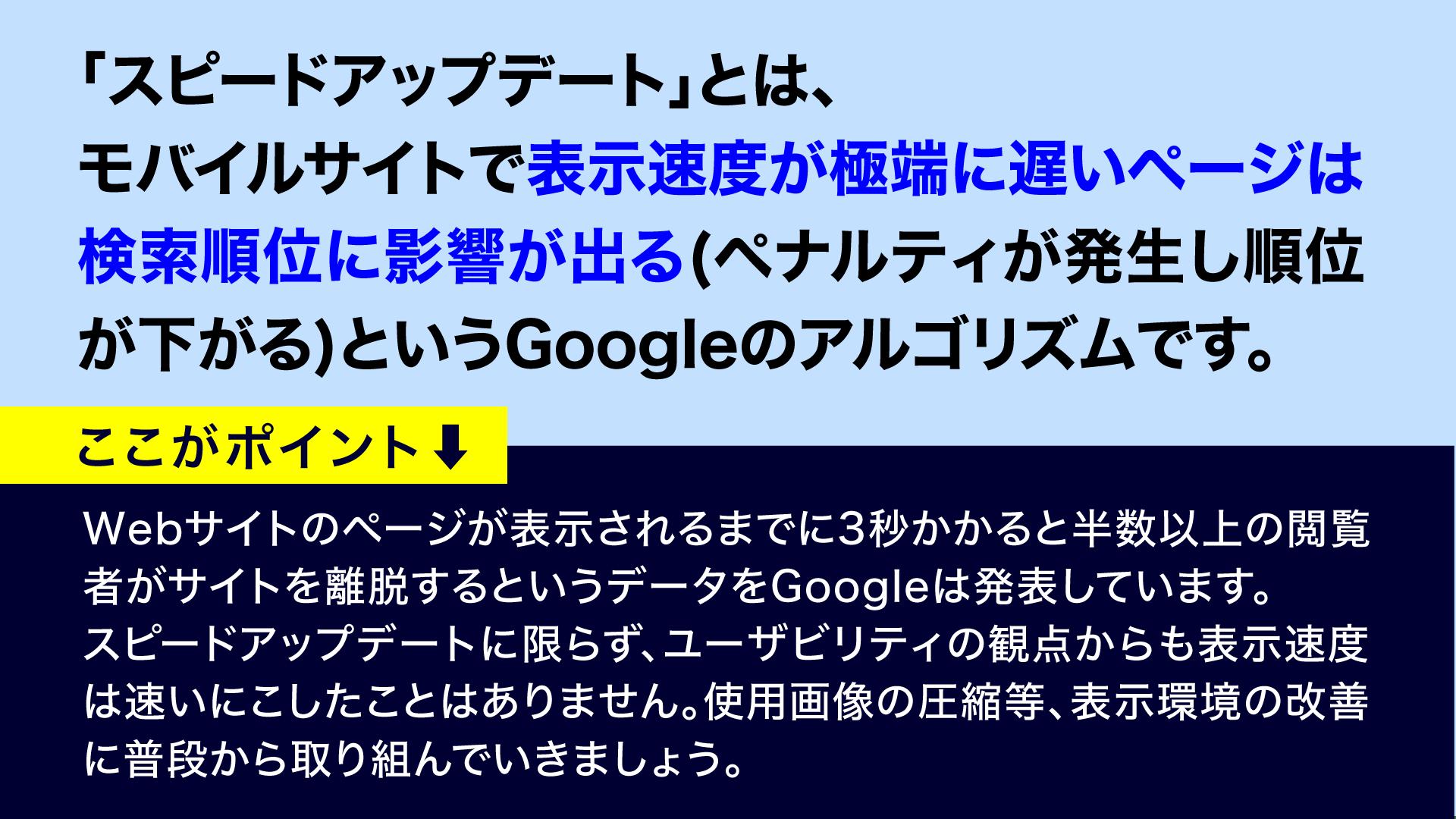 スピードアップデート⑥‐漫画SEO用語集⑨